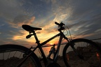 Bike under the sunset