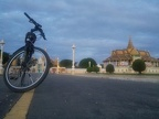 Cycling at royal palace early morning